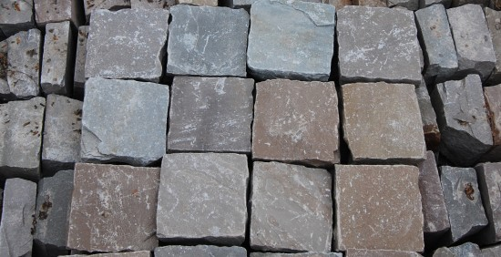 Imported sandstone setts brown