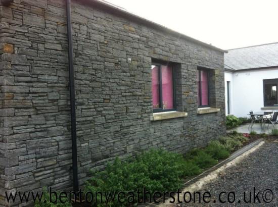 Ardglas Black Cropped Slate Walling