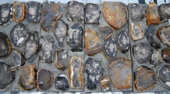Flint Blocks Knapped Chalk