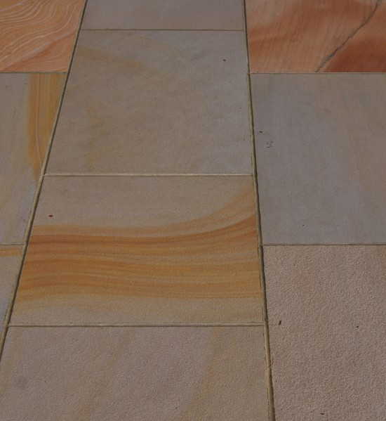 Verdi Imported sandstone paving sawn & sandblasted