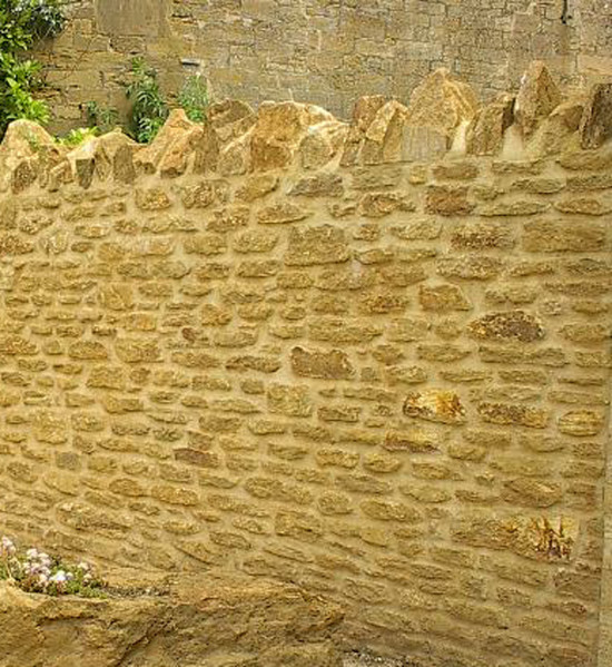 Golden Brown Limestone Walling Random