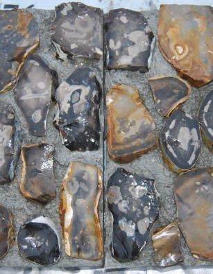 Flint Blocks Knapped Chalk