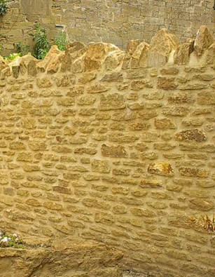 Golden Brown Limestone Walling Random